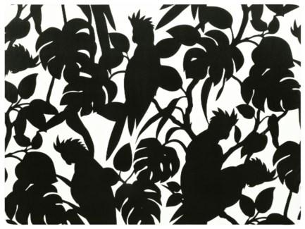 Florence Broadhurst Cockatoos Black Placemat Set of 4 30cm