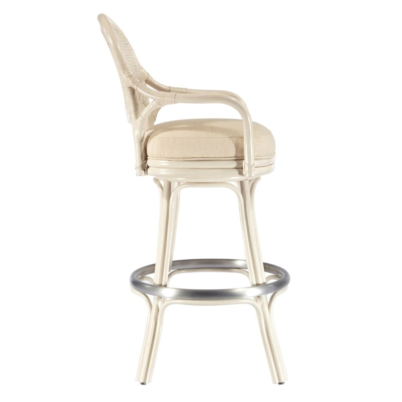 Dahlia Bar Stool in White