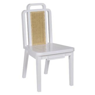 Deco Side Chair - Mahogany/ gloss white