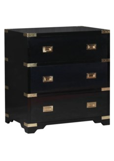 Chiba Bedside Chest - Ebony Lacquer