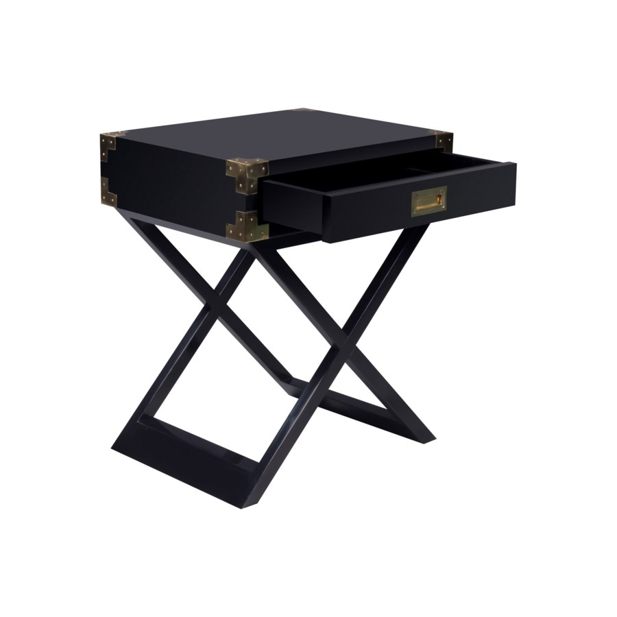 Chiba Side Table in Black
