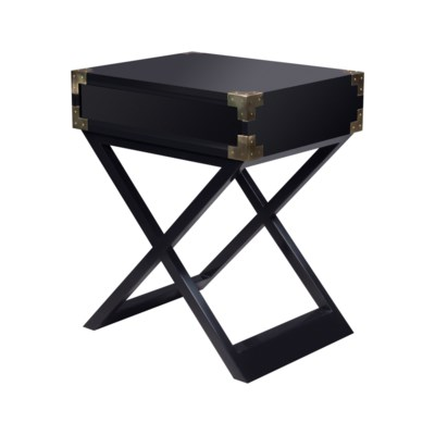 Chiba Side Table - Ebony Lacquer