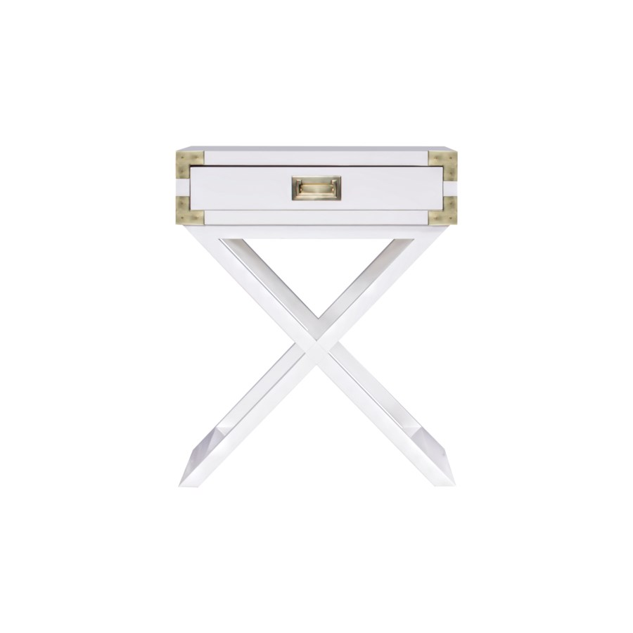 Chiba Side Table in White