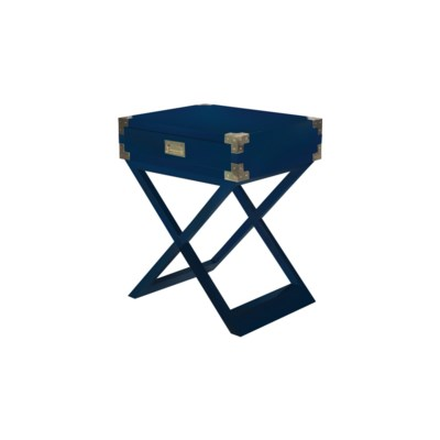 Chiba Side Table - Navy Lacquer