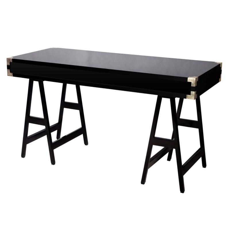 Chiba Study Desk in Black