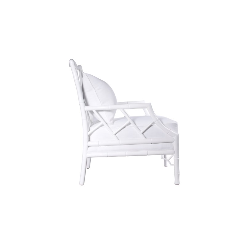 Kennedy Lounge Chair in White Lacquer