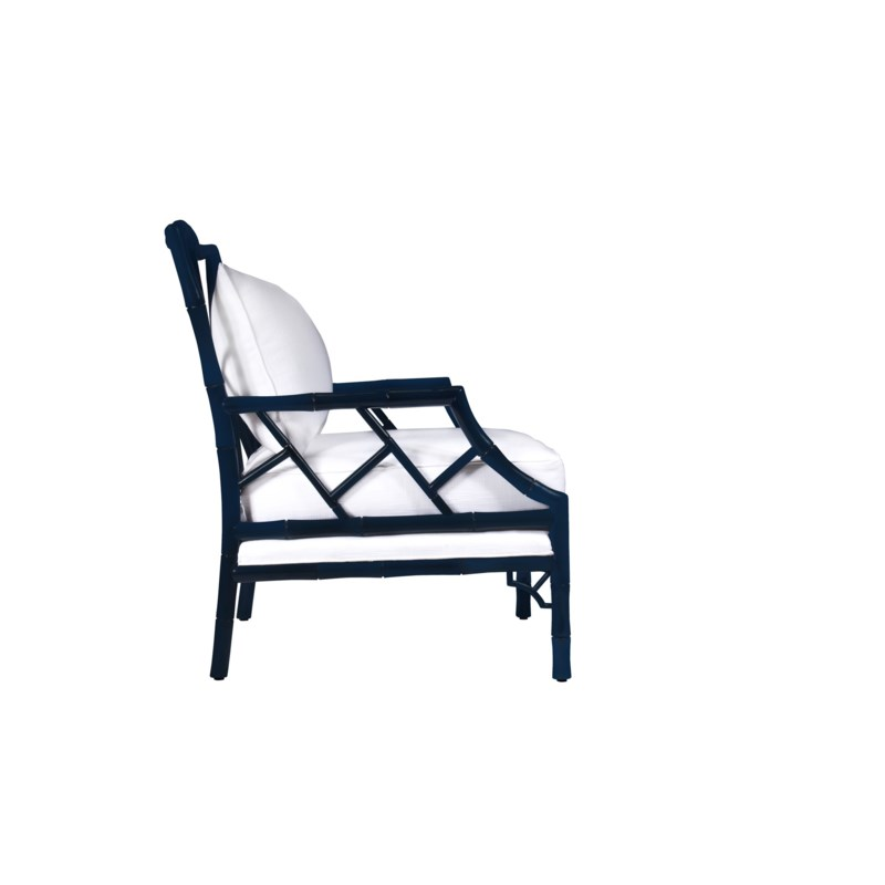 Kennedy Lounge Chair in Navy Lacquer