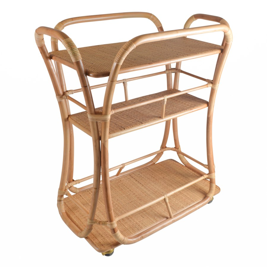 Edith Bar Cart in Natural