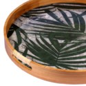 Edith Round Tray in Green