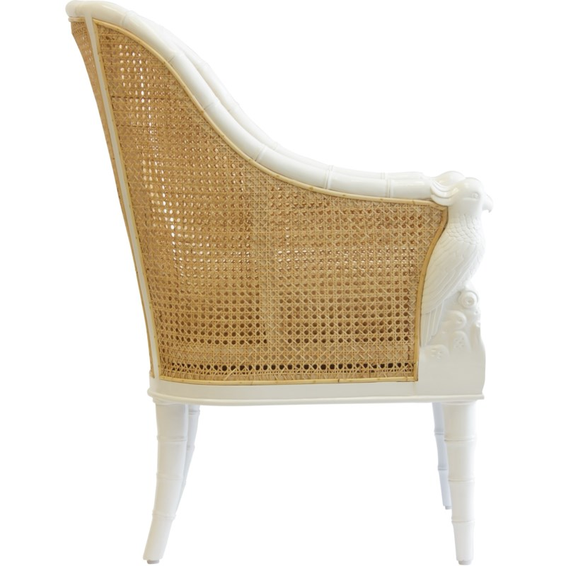 Cockatoo Chair in White/Natural