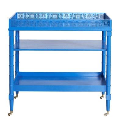 Circle Squares Serving Cart - Blue
