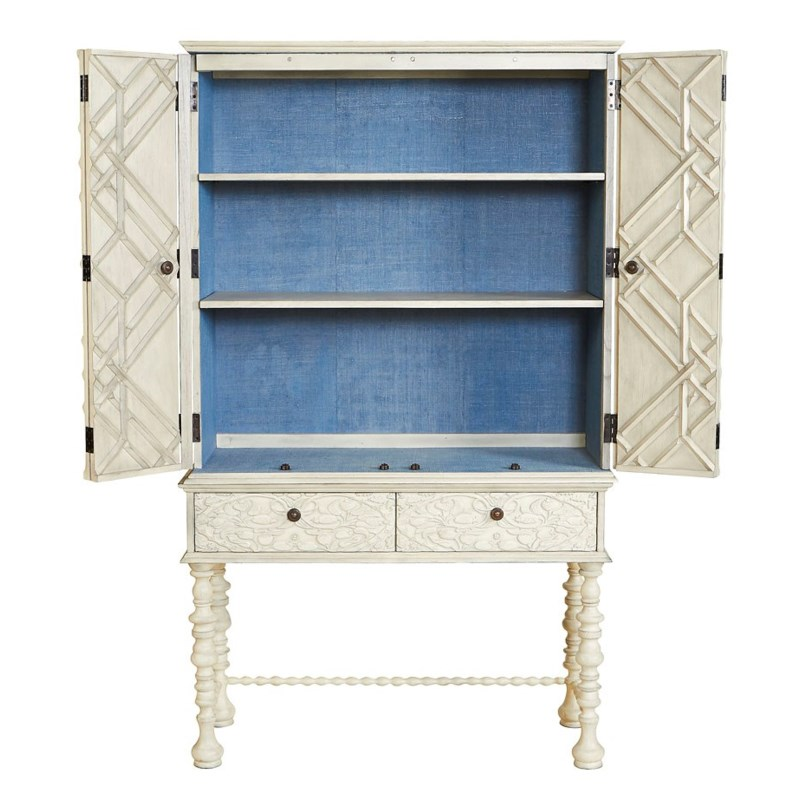 Mayfair Lattice Hutch in Grey
