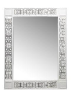 Circle Squares Mirror - White