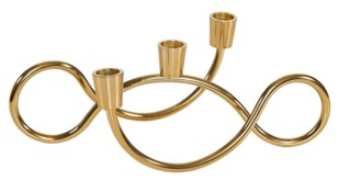 Curly Swirls Candelabra - Brass