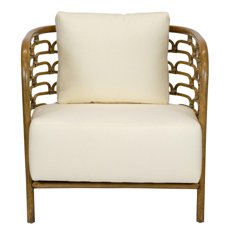 Sydney Mod Steps Barrel Chair in Nutmeg ADD CUSHION FBSMLCCS-MAC