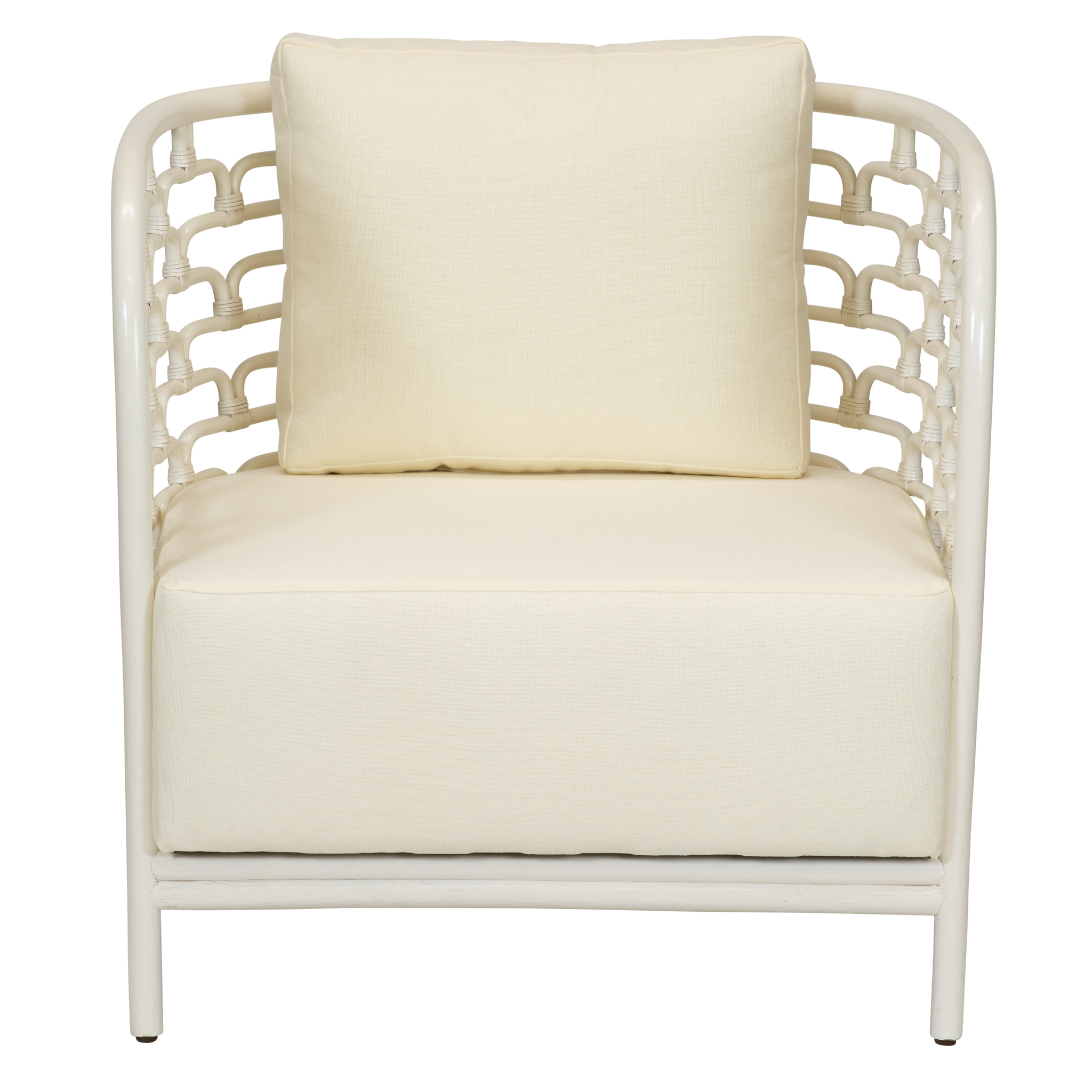 Sydney Mod Steps Barrel Chair   Winter White