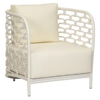 Sydney Mod Steps Barrel Chair - Winter White