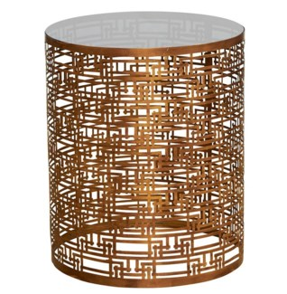 Yvans Geo Side Table - Gold