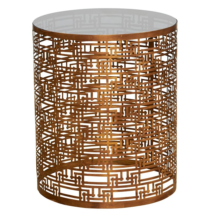 Yvans Geo Side Table   Gold