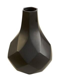 Diamonds Tall Vase - Black