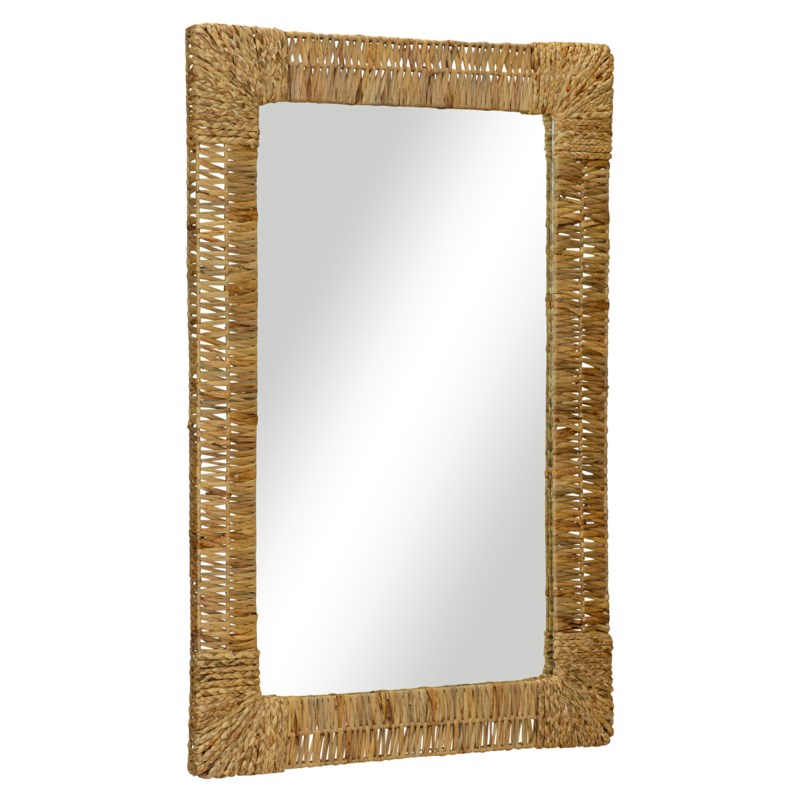 Folha Rectangular Mirror in Natural