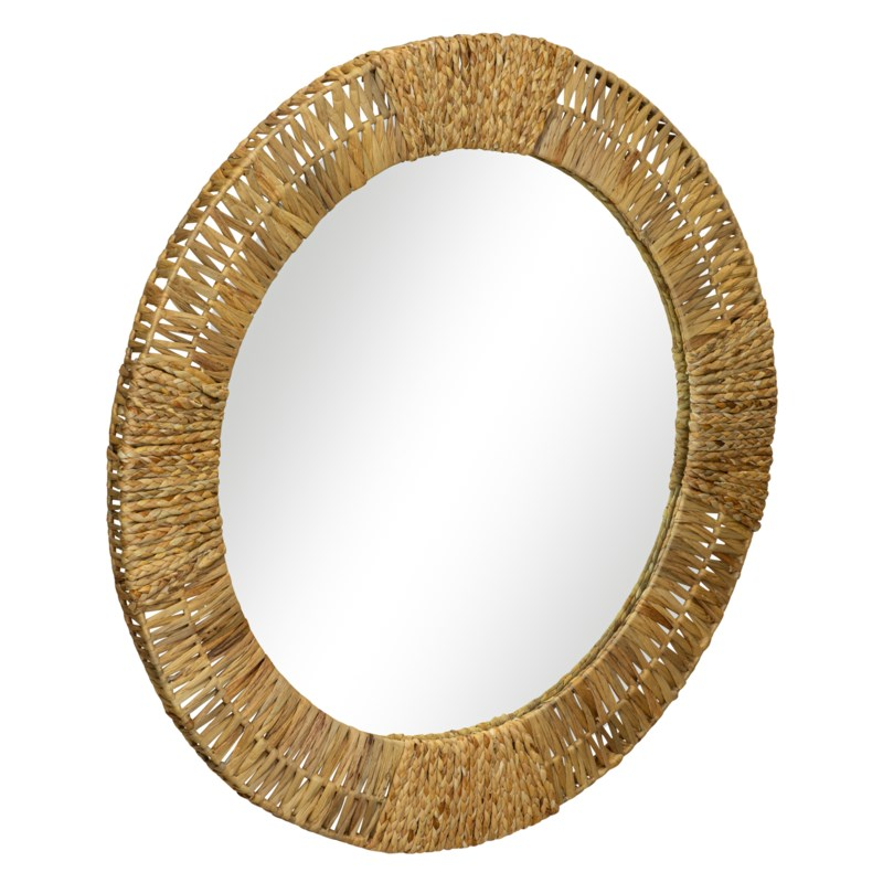 Folha Round Mirror in Natural
