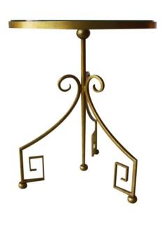 "Greek Key 20"" End Table - Gold"