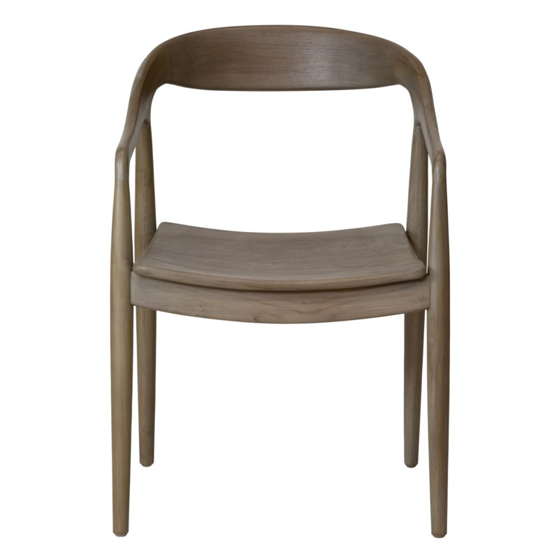 Ingrid Arm Chair in Grey