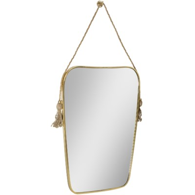 Dorna Tassel Mirror in Brass