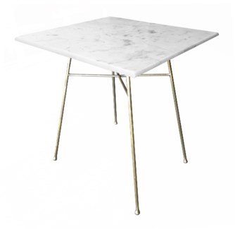Justina Jani Bistro Table - White Marble