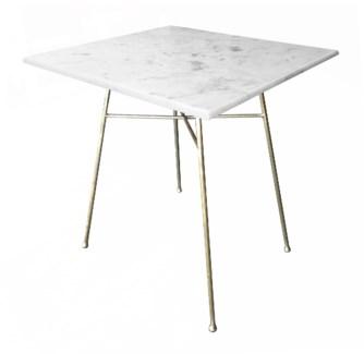 Justina Jani Bistro Table - White Marble