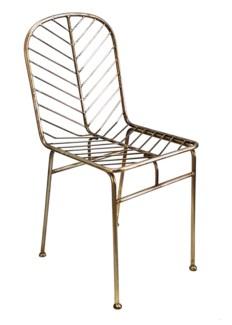 Justina Jani Side Chair - Brass