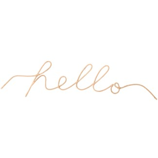 """""""Hello"""" Word Art, Sold as set of 5"""