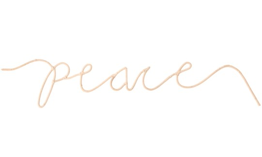 """""""Peace"""" Word Art, Sold as set of 5"""