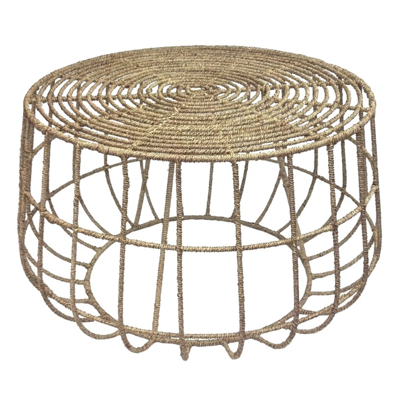 Jute Coffee Table in Natural