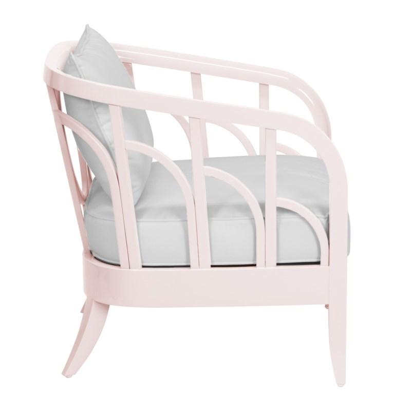 Morgan Lounge Chair in Blush