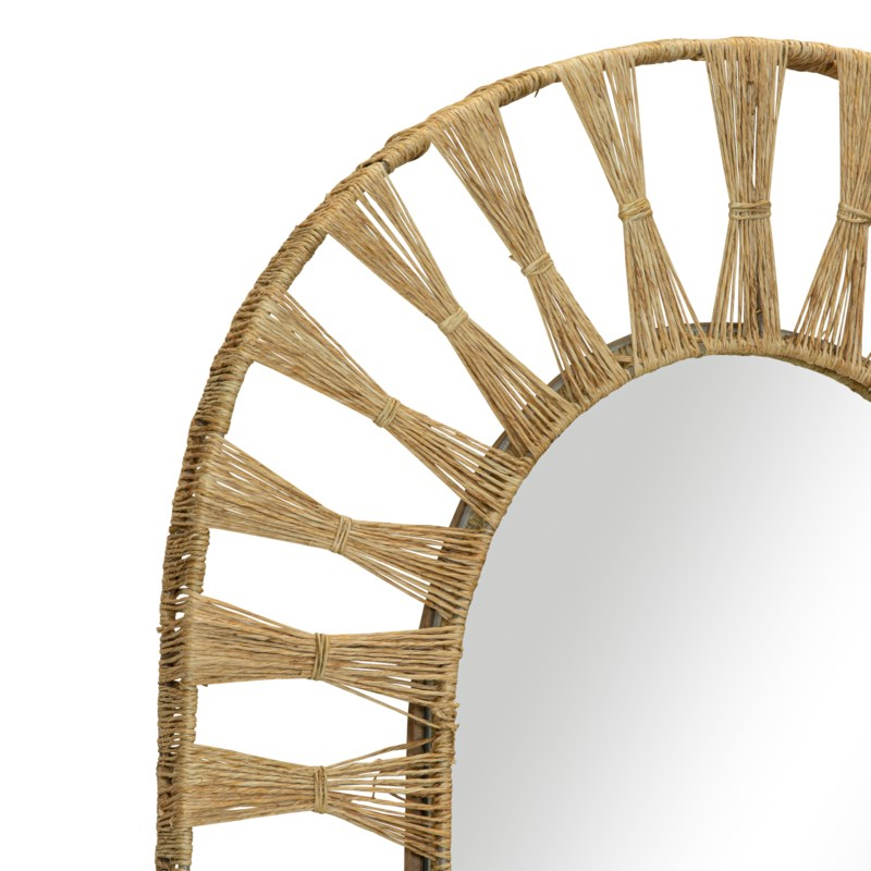 Ojai Oval Mirror in Natural