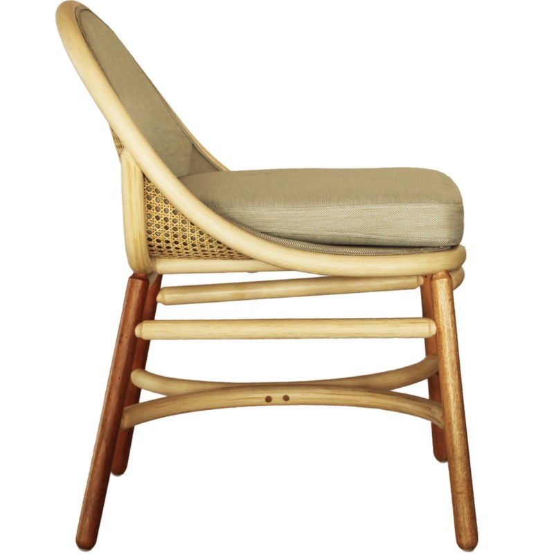 Olema Side Chair in Natural/Grey