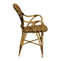 Pinnacles Arm Chair in Natural/Black