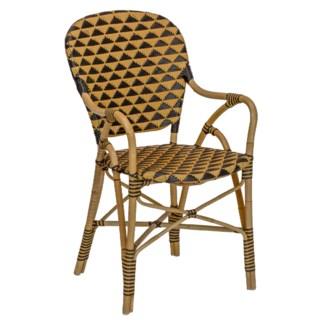 Pinnacle Arm Chair - Natural/Black