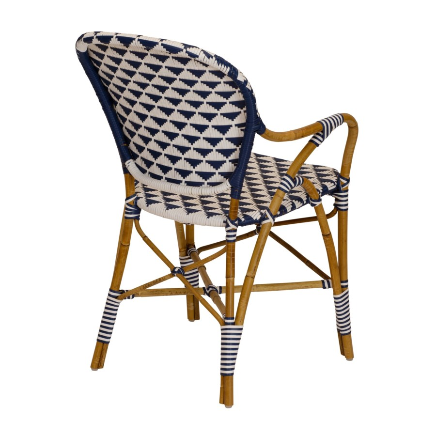 Pinnacles Arm Chair in White/Navy