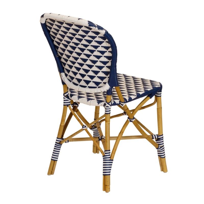 Pinnacles Side Chair in White/Navy