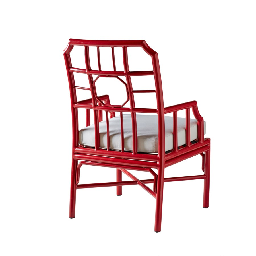 Regeant 4-Season Arm Chair in Antique Red
