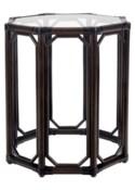 Regeant Octagon End Table w/Glass - Clove  (SPOT TABLE)