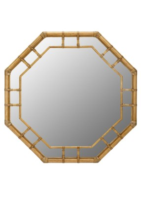 Regeant Octagonal Wall Mirror - Nutmeg
