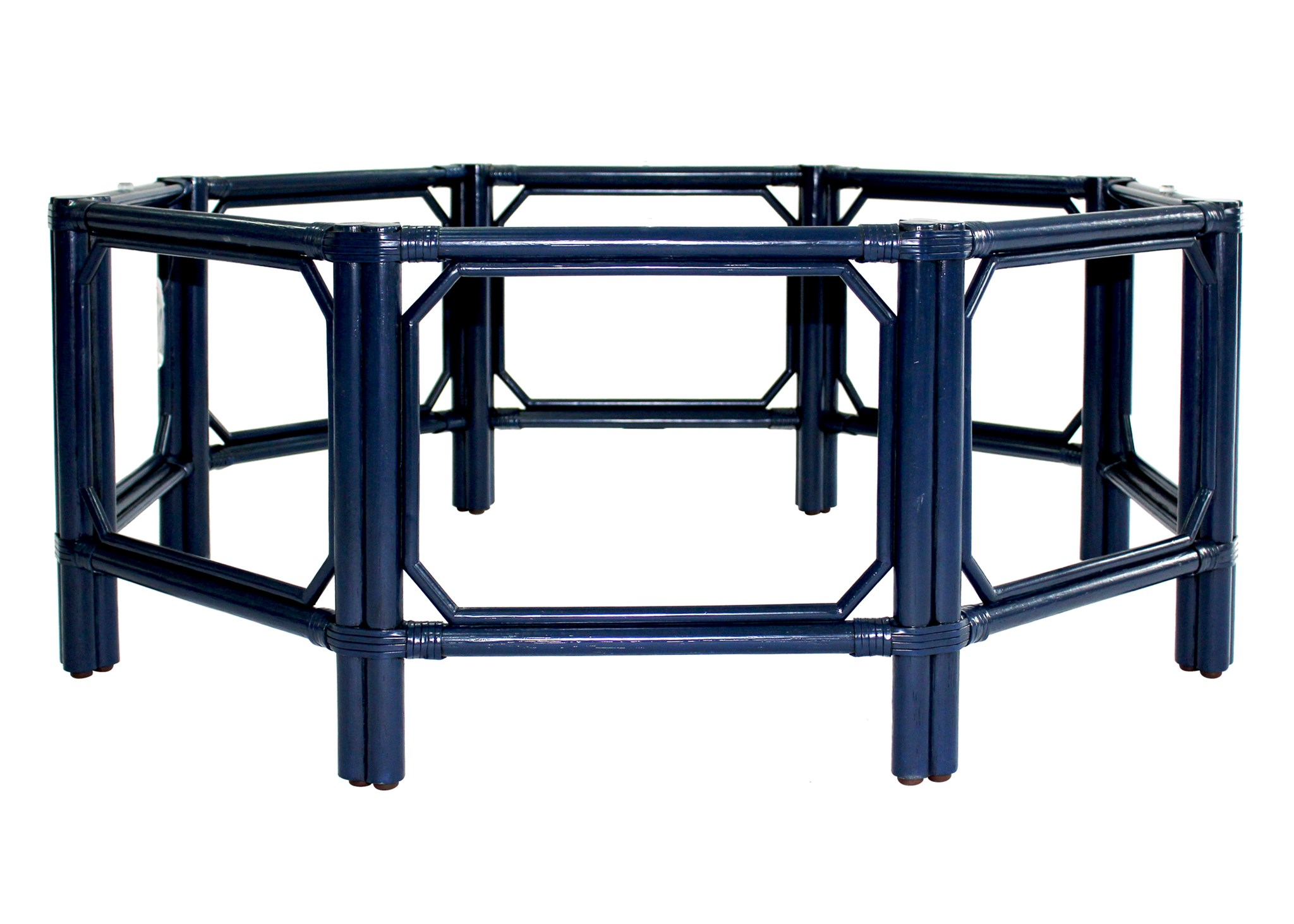 Regeant Octagon Coffee Table W/Glass   Blueberry