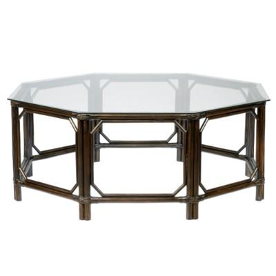 Regeant Octagon Coffee Table W Gl Clove