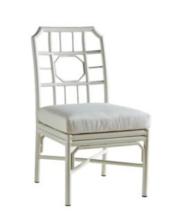 4-Season Regeant Side Chair (Aluminum) w/ Cushion - White