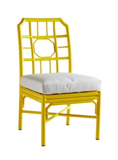 4-Season Regeant Side Chair (Aluminum) w/ Cushion - Yellow