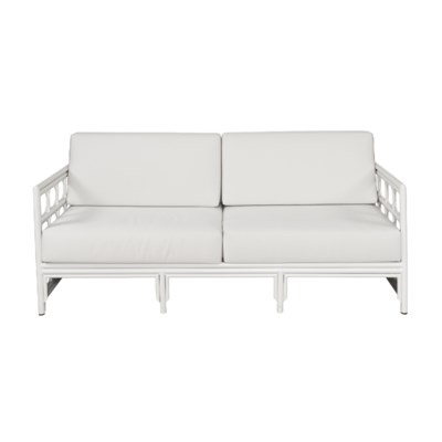 4-Season Regeant Sofa (Aluminum) w/ Cushions - Winter White
